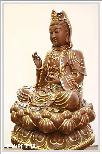 佛像-1呎6綠壇木觀世音菩薩描金5.jpg