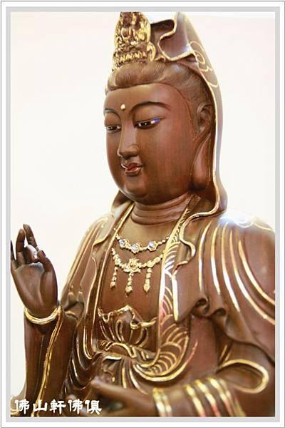 佛像-1呎6綠壇木觀世音菩薩描金4.jpg