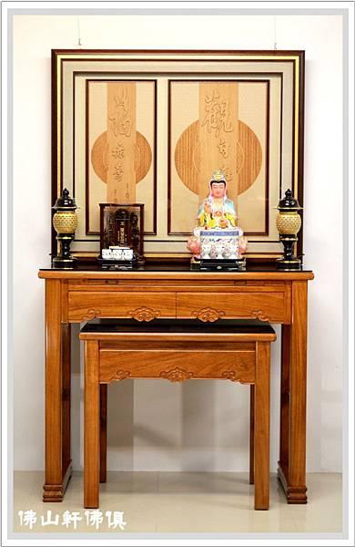 佛堂設計展示-全經輪木雕與黃如意04.jpg