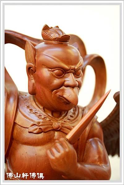 特雕神像-蕭楠木雷公5.jpg