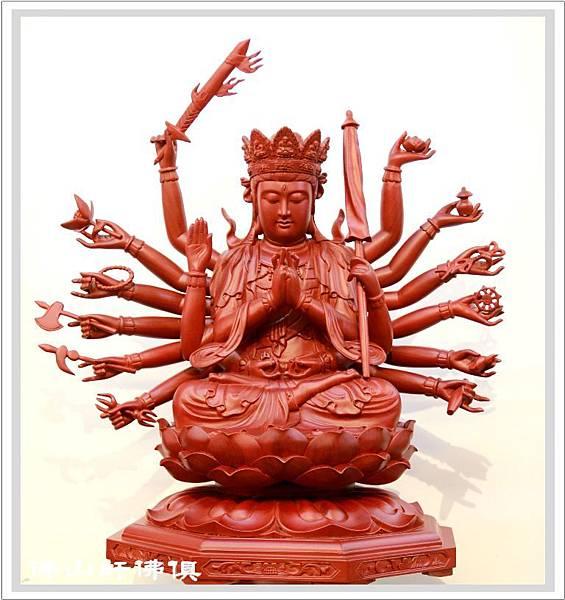 【佛山軒佛俱佛像】準提佛母神像 - 國寶紅豆杉