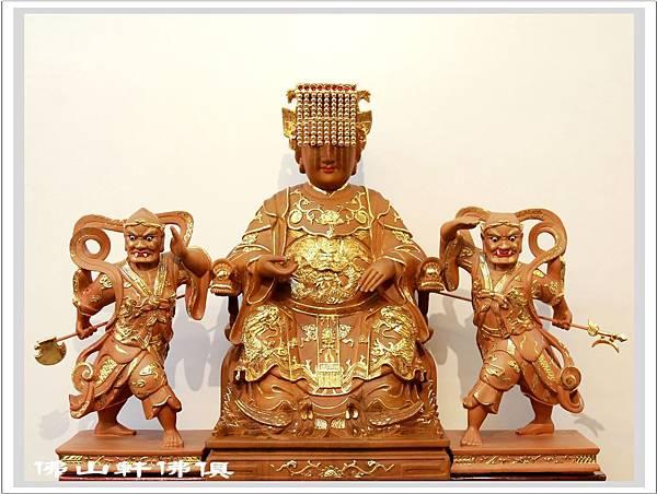 【佛山軒佛具工藝】描金木雕神像- 媽祖、千里眼、順風耳