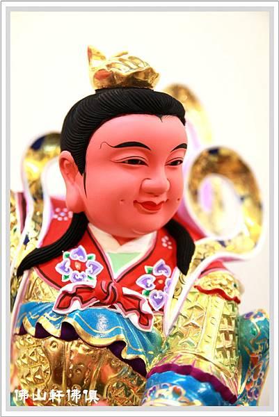 【佛山軒佛具中壇元帥】安金木雕神像 - 紅領三太子