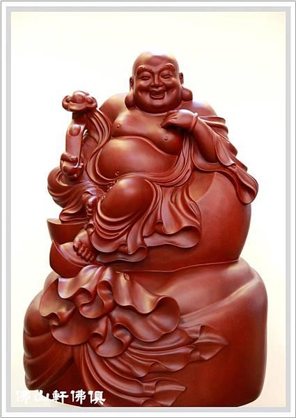 【佛山軒神像佛具】紅壇香彌勒佛像