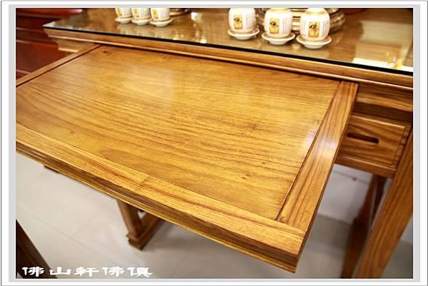 神桌展示 -黃花直腳吉祥佛桌5
