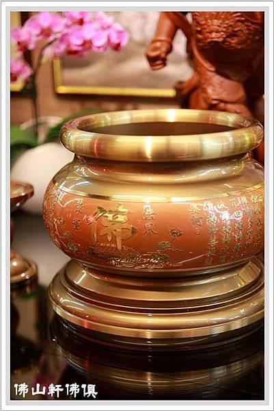 【佛山軒銅佛俱】銅器佛具用品- 金吉系列-佛爐祖爐敬杯
