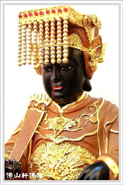 媽祖-黑臉描金佛像04