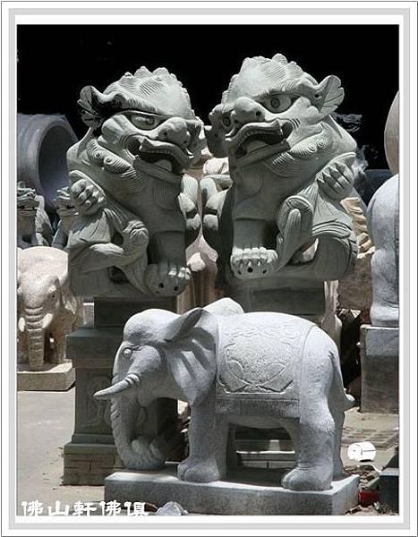 石雕南獅石雕大象