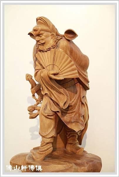 木雕鍾馗(站立)藝術雕刻4