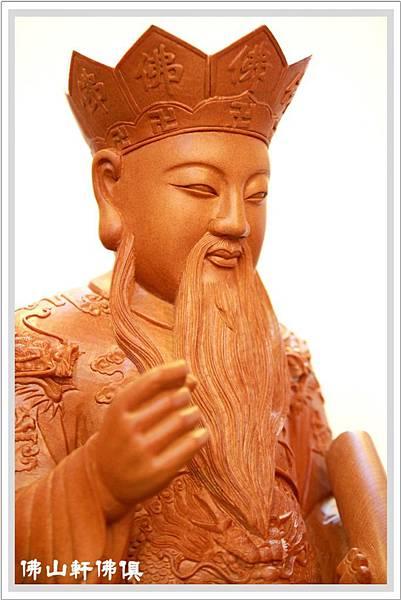 【佛山軒神像佛俱】台灣檜木城隍爺-1呎6五佛帽