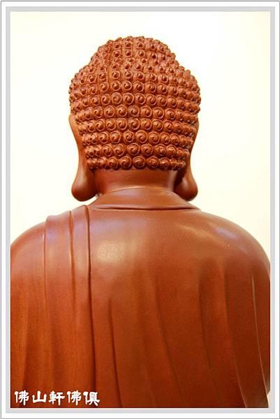 【佛山軒神像佛俱】釋迦牟尼佛- 1呎3梢楠木雕作品