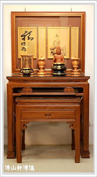 【神桌佛聯佛俱】居家佛堂神聯展示 -中式新如意佛桌系列特選