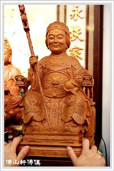 【皇嬤神像佛俱】微笑老王母娘娘- 一呎六全樟木佛像