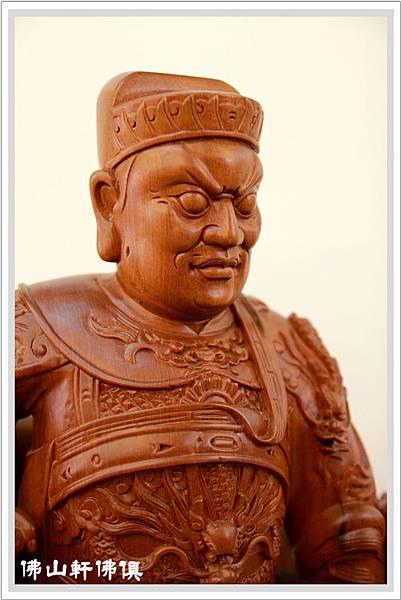 【原木神像佛俱】池府王爺千歲- 一尺三台灣蕭楠木五獅座