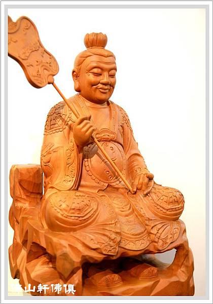 【佛山軒神像佛俱】道教祖師爺太上老君 - 一尺六原木雕佛像