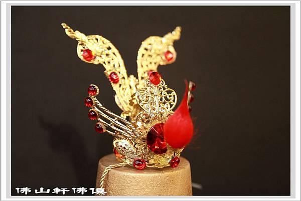 【手工配件佛俱】太子神像純手工台灣限量製束冠- 紅寶鑚與藍寶鑚