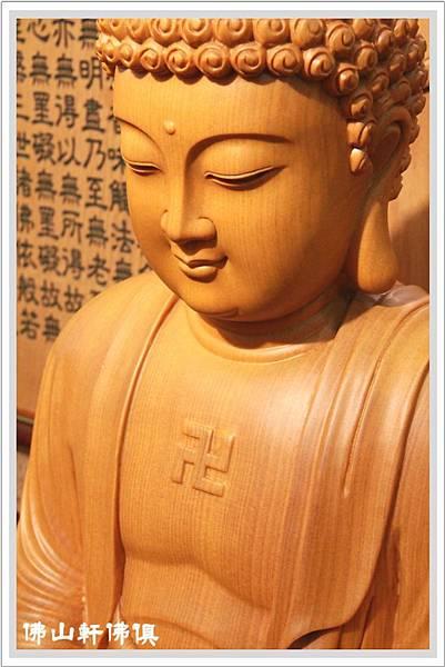【佛山軒佛具神像】台灣檜木工藝 - 釋迦牟尼佛像