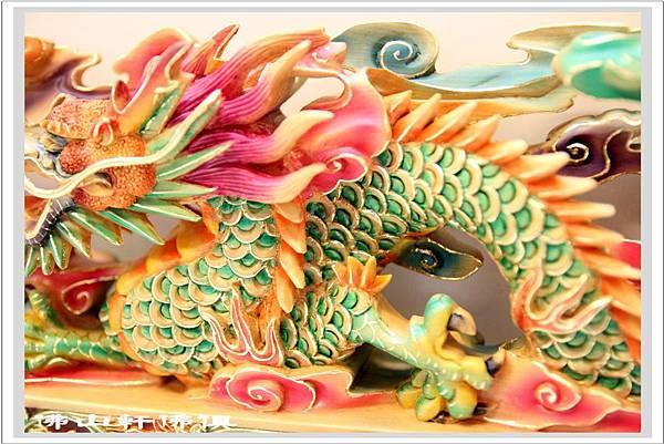 台灣檜木神龍像雕刻彩繪04
