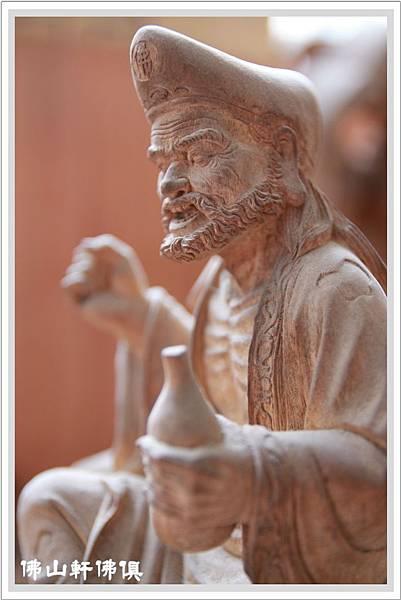 禪師濟公原木神像4
