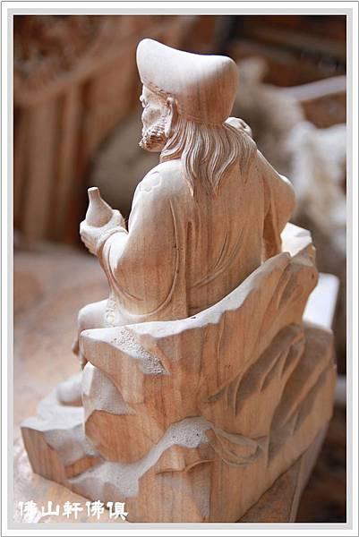 禪師濟公原木神像5