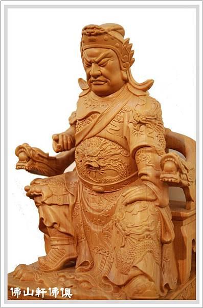 台灣檜木關聖帝君神像3