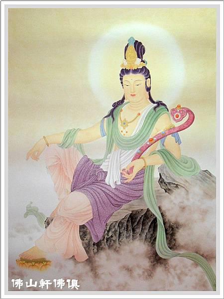 【佛山軒佛俱神像佛聯】名師聖品- 淡彩佛像掛聯 -自在如意觀音 -限量典藏