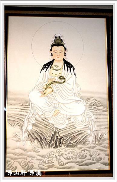 神桌佛聯-白衣如意觀音菩薩2