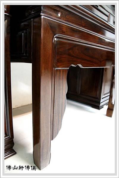 桶桌式神桌黑紫檀木佛桌6
