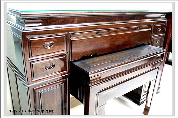 桶桌式神桌黑紫檀木佛桌5