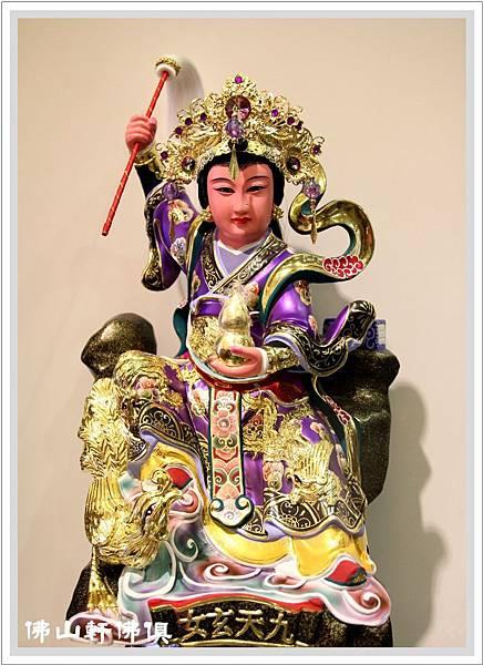 台灣手工九天神像紫袍1