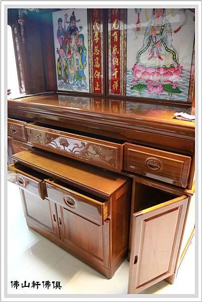 【佛山軒神桌佛櫥】台灣在地自製-6尺3寬7尺高大佛桌