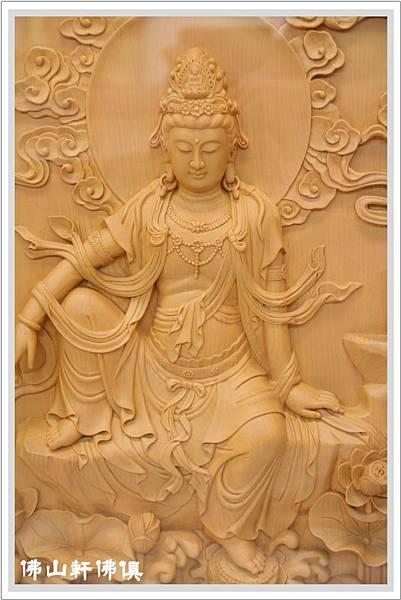 【佛山軒佛具佛像】檜木神像立體自在觀音聯