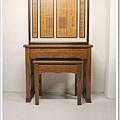 神聯神桌佛具 - 佛字木雕神聯 - 金黃如意神桌