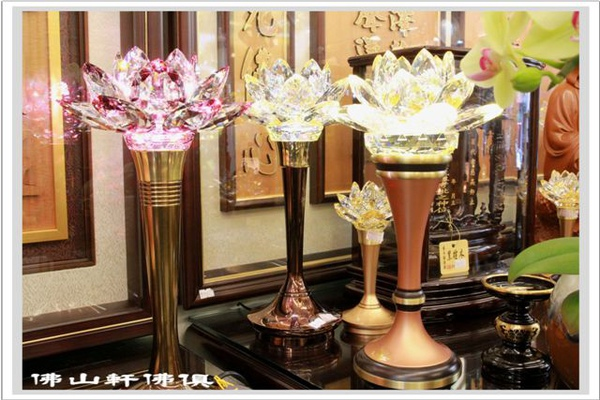 神明燈佛具(佛俱) - 水晶蓮花LED燈大集合 - Crystal Lotus Lamp