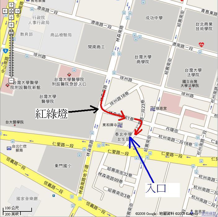 Y17停車場入口地圖