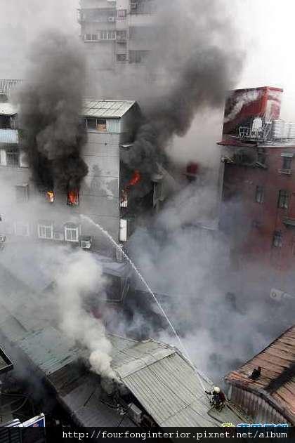 鄭州街大火