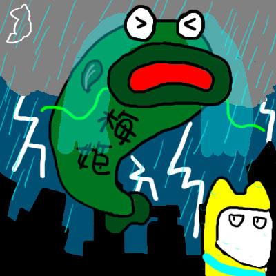 梅姬颱風4