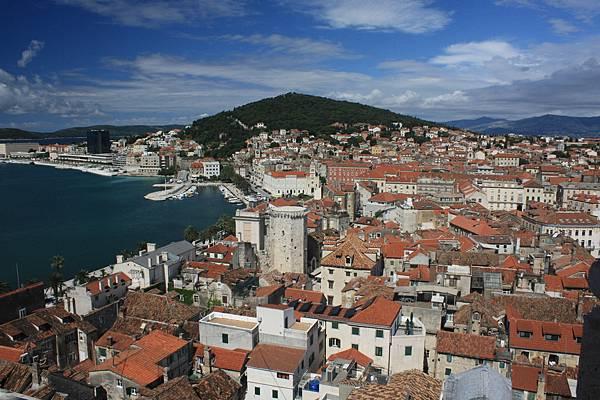 在鐘塔上俯瞰Split