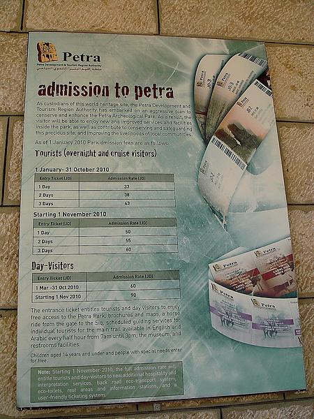 很貴的Petra門票