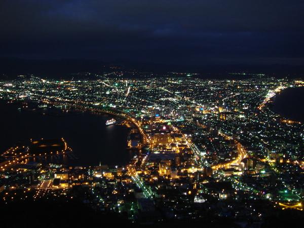 傳說中的函館百萬夜景