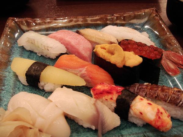 在小樽吃的旭壽司