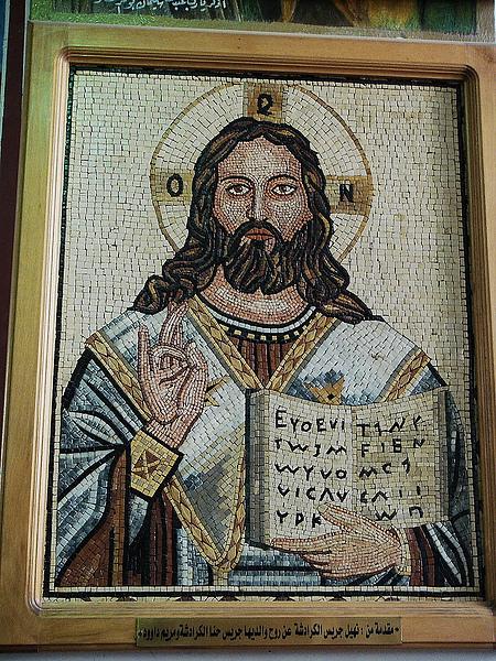 教堂中的所有的壁畫都是馬賽克的。