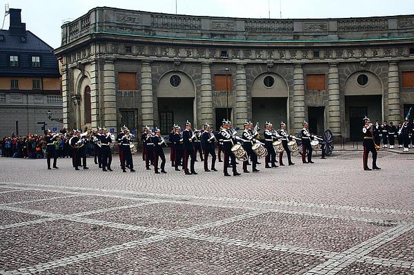 斯德哥爾摩皇宮的衛兵交接儀式