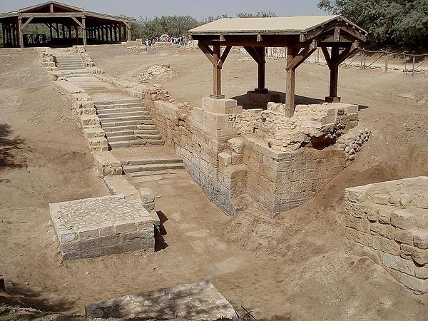 約旦河畔-耶穌受洗的地方。