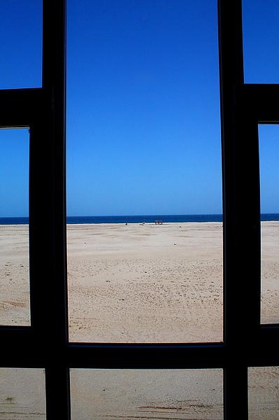 飯店房間看出去的海景