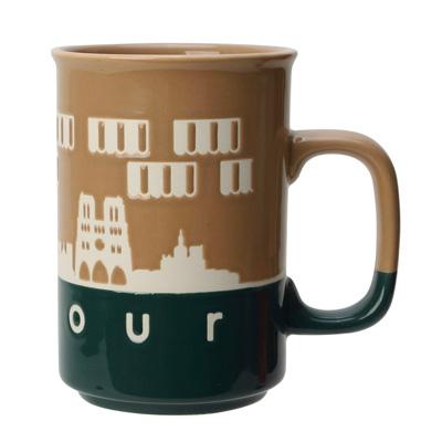 bonjour城市剪影馬克杯