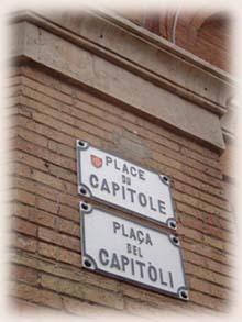 土魯斯市的路名顯示也分列有兩種~正統法語跟地方奧克語方言