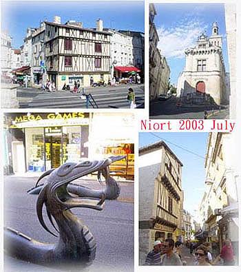 Niort城的剪影