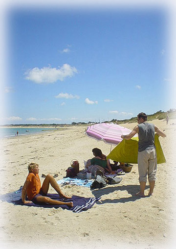 海灘上的休憩