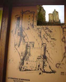 殘破古老的城堡遺跡